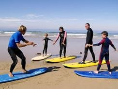 Private or group surf lessons.