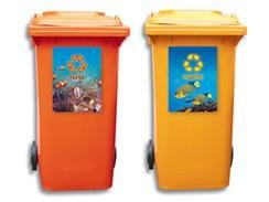 Branded Recycling Wheelie Bin