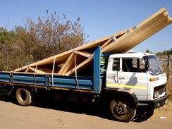 pre-fabricated roof trusses