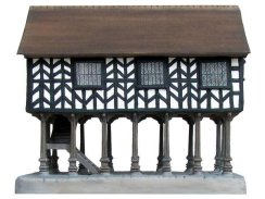 Hand-crafted Market House miniture replica\