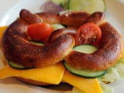 Forget about Bagels - Rather have a Pretzel at Euro Haus in Loop Street