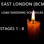 Stages 1 – 8 load-shedding for East London (BCM) 2020