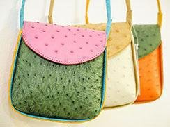 Ostrich leather handbags from South Africa