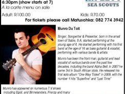 Join Plett Sea Scouts for an evening of entertainment with Munro Du Toit