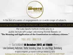 Public Lecture by Judge Lebotsang Ronnie Bosielo